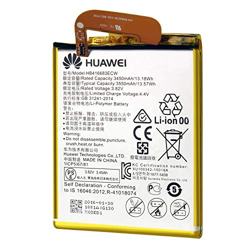 Compatible with Huawei Google Nexus 6P Genuine Standard Rechargeable Lithium-ion Battery HB416683ECW