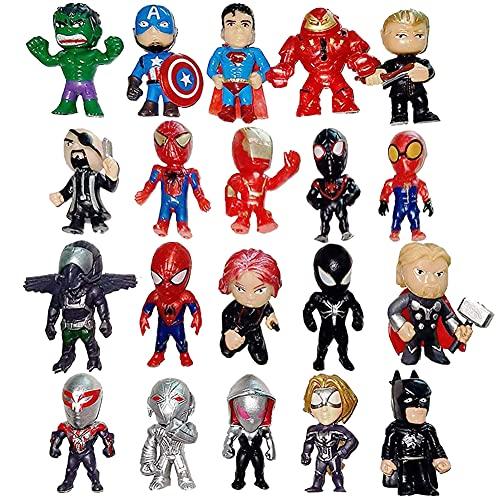 Avengers Mini Figuren Set, 20 Stück Superhero Avengers Cake Topper Birthday Party Supplies Cupcake Figurines Party Supplies Cake Toppers Figuren Kuchen Dekoration