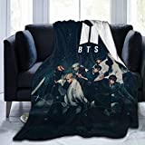 BTS Ultra Soft Flannel Throws Blankets Micro Fleece Queen Size Blanket Suitable for Sofa Bedding Home Travel Camping Dorm 50'' X40 / 60'' X50/ 80'' X60 Inches