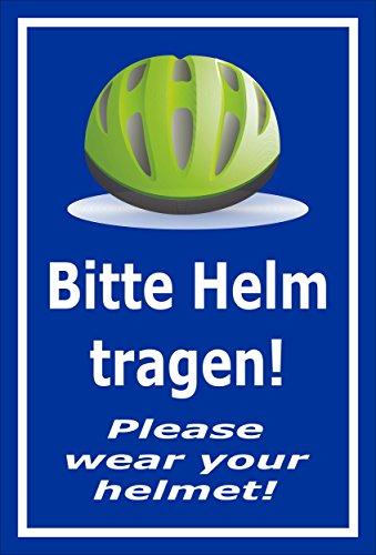 Melis Folienwerkstatt sticker schild - Gelieve helm te dragen - S00050-091-F