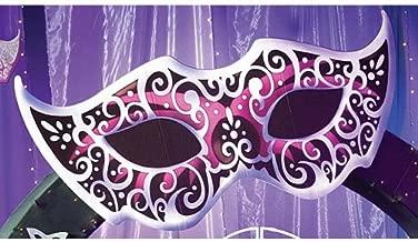 Large Mardi Gras Masquerade Ball Mask Cutout Standup Photo Booth Prop Background Backdrop Party Decoration Decor Scene Setter Cardboard Cutout