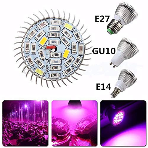 Balai E27 / E14 / GU10 Vollspektrum LED Anlage Wachsende Glühbirne für Hydrokulturgarten Gewächshaus Sukkulente Gemüse Blume (18 Watt / 28 Watt)