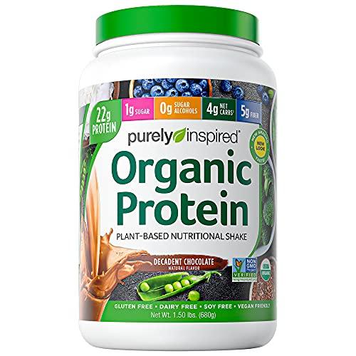 Vegan Protein Powder Smoothie Mix | Purely Inspired Organic Protein Powder | Plant Based Protein Powder For Women & Men | Pea Protein Powder | Plant Protein Powder | Chocolate, 1.5 Lb (package Varies)
