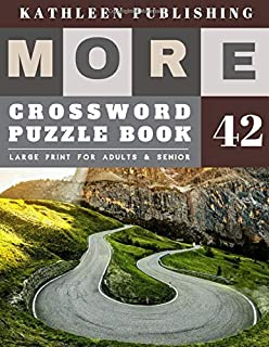 Crossword Puzzles Large Print: crosswords for teens   More Large Print   Hours of brain-boosting entertainment for adults and kids   Nature Road Design (crossword books quick)
