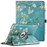 Fintie Case for iPad 9.7 2018 2017 / iPad Air 2 / iPad Air - 360 Degree Rotating Stand Protective Cover with Auto Sleep Wake for iPad 9.7 inch (6th Gen, 5th Gen) / iPad Air 2 / iPad Air, Blossom
