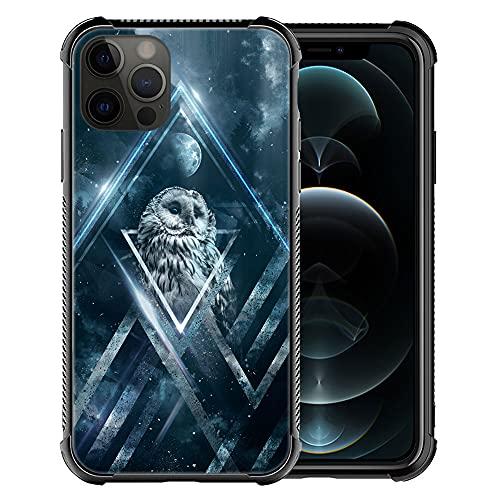 DJSOK Case Compatible with Case for iPhone 13 Pro Max, HSK Starry owl iPhone 13 Pro Max Cases with 4 Corners Protective Shockproof Soft TPU Bumper Slim Pattern Design Back Case
