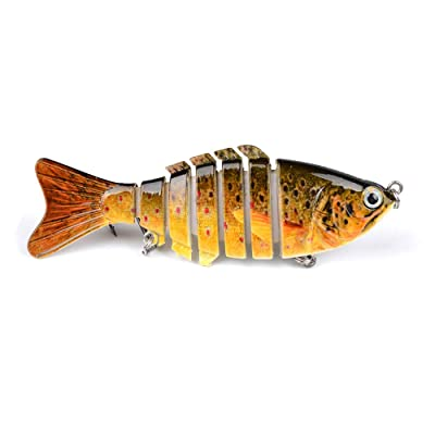 Proberos Fishing Lures Multi Jointed Segment Sw...