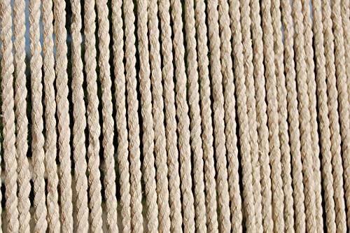 CASA Türvorhang Seil Toulon 3 Fliegenvorhang Insektenvorhang Balkonvorhang Seilvorhang Creme beige, Maße:120 x 230 cm