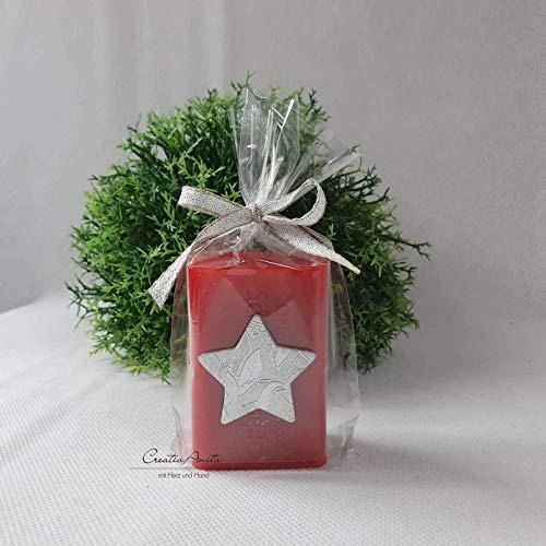 Weihnachtsgeschenk - 1 Stück Schafmilchseife weihnachtlich dekoriert mit Stern