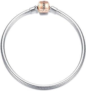 SOUFEEL Snake Chain Bracelet Sterling Silver S925 Bracelets for Women Bulk Clasp Snake Chain Bracelet Charms Jewelry Makin...