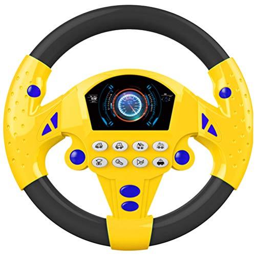 SAMTITY Elektrische Spielzeug Lenkrad mit Lichtern und Musik, Kinder Simulation Lenkrad Autositz Spielzeug Früherziehung Spielzeug für Säuglinge und Babys