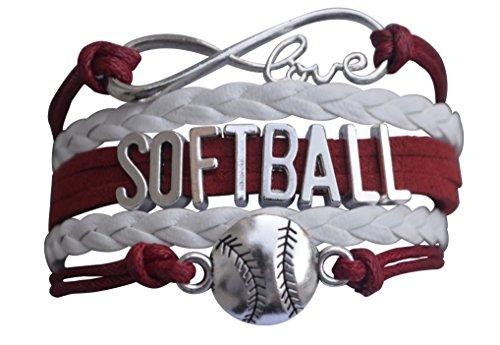 Softball Gift- Softball Bracelet- Girls Softball Jewelry -Perfect Softball Player, Team and Coaches Gifts