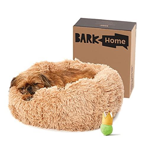 BarkBox Memory Foam Dog Bed With Donut Cuddler.