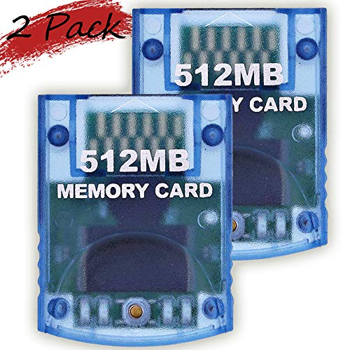 Memory Card 512MB8192 Blocks 2 Pack for Nintendo Wii Game Cube NGC Gc