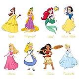 decalmile Pegatinas de Pared Princesa Vinilos Decorativos Sirena Ariel Blancanieves Adhesivos Pared Habitación Guardería Niñas Infantiles Bebés