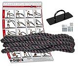 POWRX Battle Rope Schwungseil inkl. Workout I Ø 38 oder