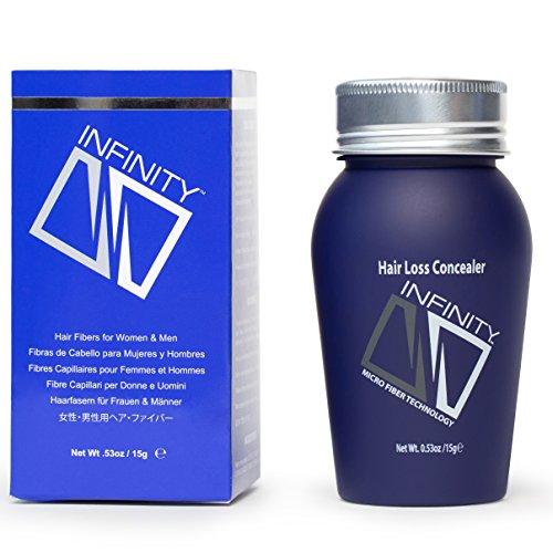 Infinity Hair Fiber - Hair Loss Concealer - Hair Thickening Fiber for Men & Women – Auburn...