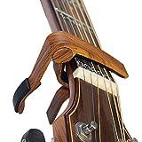 カポタスト アコギ専用カポ - BestSounds ワンタッチ式 ギターカポタスト guitar capo(木目カラー)
