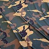 Stoff Baumwolle Jersey Meterware Tarndruck Camouflage grün