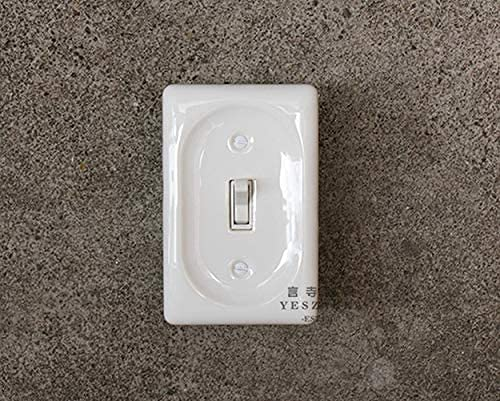 PJDOOJAE Interruptor de enchufe interruptor doble interruptor de control oculto doble openreco vintage de cerámica interruptor de interruptor de interruptor de encendido para el hogar interruptor de p
