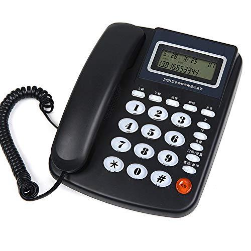 Téléphone Fixe Fixe à Domicile, sans Batterie, Fixe au Bureau, appels Mains Libres, Deux Couleurs en Option