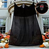 Moon Boat 13.94ft Halloween Ghost Hanging Decorations with LED Light-up Eyes, Scary Creepy Indoor Outdoor Decor(Batteries Not Included)
