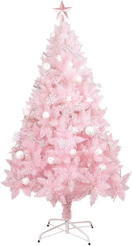 Pink Artificial Christmas Tree with to Manufacturer direct delivery Support Miami Mall Metal Easy Assemb