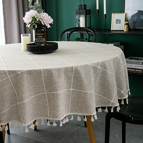 sans_marque Tischdecke, Tischdecke, Tischdecke, kann den Rand der Tischdekoration abwischen, verwendet für Küche und Esstisch, 180 cm, rund.