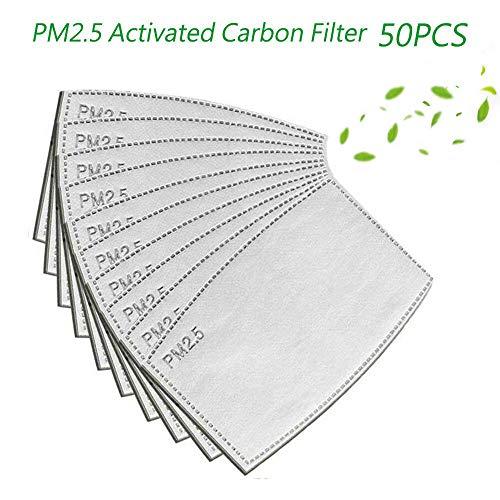 ATian 50PCS Filtro Antivaho Reemplazable de 5 Capas Filtro de Carbón Activado PM2.5, Filtro de Puerto de Protección Exterior
