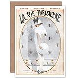 Artery8 La Vie Parisienne Woman White Charmer Magazine Cover Sealed Greeting Card Plus Envelope Blank Inside París Mujer Portada de la Revista Cubrir