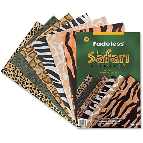 Pacon Corporation 57770 Safari Paper, Fadeless, 50lb, 12-Inch x18-Inch, 24/PK, AST