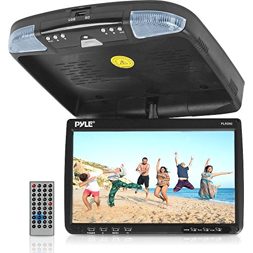 PYLE PLRD92 9-Inch Flip Down Monitor and DVD Player with Wireless FM Modulator/ IR Transmitter