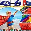 Jojoin 6 PCS Costumi da Supereroi per Bambini, 6 Maschere di Supereroi, 6 Superhero Braccialetti Slap e 1 Borsa portaoggetti, Costumi Carnevale Mantelli Giocattoli regalo per bambini Halloween Festa #1