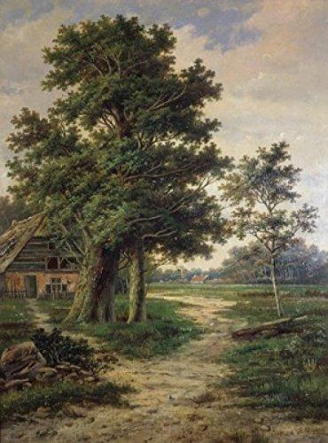 Barend Cornelis Koekkoek – A Wooded Landscape Barend Cornelis Koekkoek (1803-1862 Dutch) Poster Drucken (45,72 x 60,96 cm)