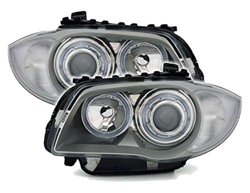 Depo Angel Eyes Scheinwerfer Set Klarglas Silber mit Standlichtringen