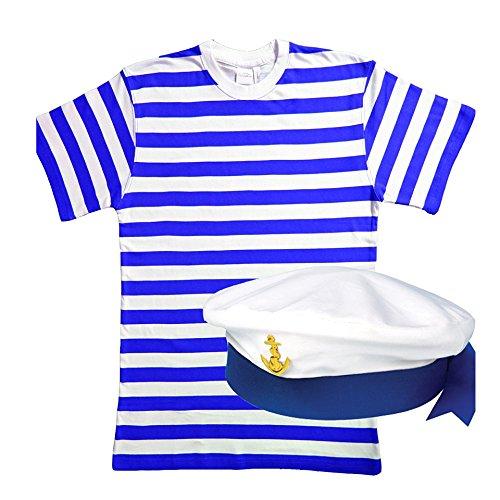 Set de disfraz de hombre de 2 piezas de marinero para hombre.