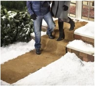 wholesale EXTRA WIDE NO SLIP ICE AND SNOW CARPET - 10 FEET lowest LONG X 30 INCHES WIDE (SET discount OF 2) BY JUMBL outlet sale