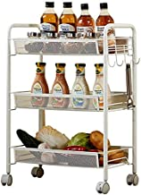 Home Living Museum/Kitchen Rack with Wheel Mobile Floor Storage Shelf Multi Layer Bathroom Bathroom Storage Rack Spice Rack