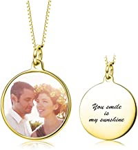 LONAGO Full Color Photo Picture Personalized Necklace Custom Etched Dog Tag Image Pendant with Message Name