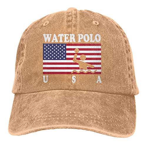 XCNGG Bandera Americana Agua Unisex Sombreros de Vaquero Deporte Sombrero de Mezclilla Gorra de béisbol de Moda Negro