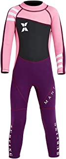 joyjorya Kids Wetsuit, 2.5MM Neoprene Thermal Swimsuit with One Piece Long Sleeve Warm Wet Suits for Youth Boy's and Girl's Snorkeling, Diving, Surfing, Winter Swimwear