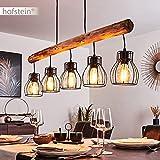 Pendelleuchte Gondo Metall/Holz LED - 7