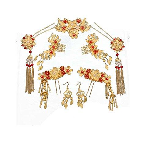 Coiffure de mariée de style chinois accessoires de cheveux de mariage