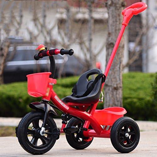 Kinder Dreirad abnehmbare Push-Baby-Fahrrad 1-3-5 Jahre altes Kind Fahrrad ( Farbe   rot )