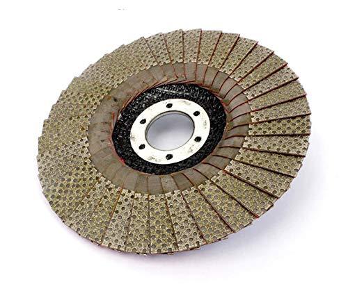 XIAOFANG Fangxia Store 5 Pulgadas 1pc 60/100/200/400 Ruedas de molienda de Grano 125 mm Solapa Lijado Disco abrasivo para Molinillo de ángulo Diamante Almohadilla de Lijado (Grit : 60)