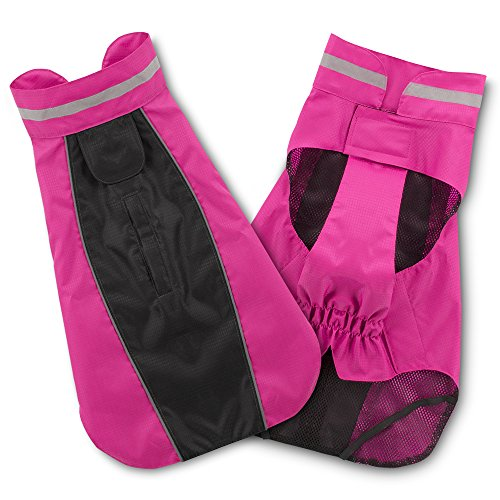Voyager Dog Windbreaker by Best Pet Supplies - Fuchsia, Large