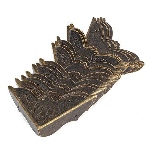 bqlzr 45 x 13 mm bronze ancienne Bureau pans de drapas Fer Boîte Coins de protection – lot de 20