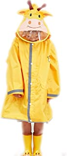 LHY- Raincoat S/M/L Children's raincoat Poncho Breathable and odorless Boys and Girls Waterproof raincoat Convenient (Color : Yellow, Size : M)