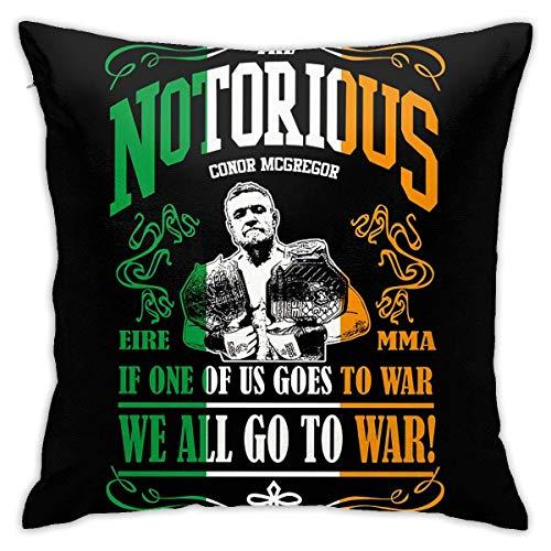 GSDGSDG Conor McGregor Funda de almohada Funda de almohada para sofá cuadrado decorativo fundas de almohada para decoración del hogar 18 x 18 pulgadas