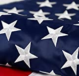 American Flag 3x5 ft: Longest Lasting US Flag, Made From Nylon, Embroidered Stars, Sewn Stripes, Brass Grommets, UV Protection Perfect for Outdoors! USA Flag